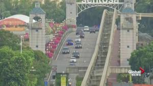 Trump-Kim summit: Trump's motorcade departs after North Korea talks